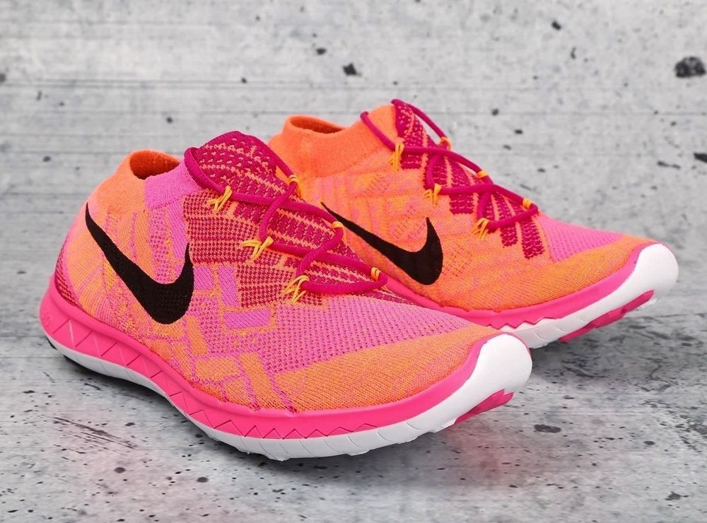 new style 582f3 9da62 New NIKE 718420-600 Fireberry Pink Orange Free 3.0 Flyknit running SHOE  Womens 9   Clothing, Shoes   Accessories, Women s Shoes, Athletic   eBay!