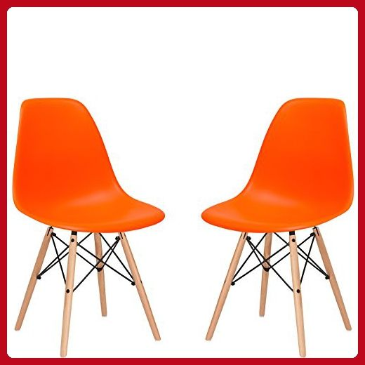 poly and bark eames style molded plastic dowel leg side chair