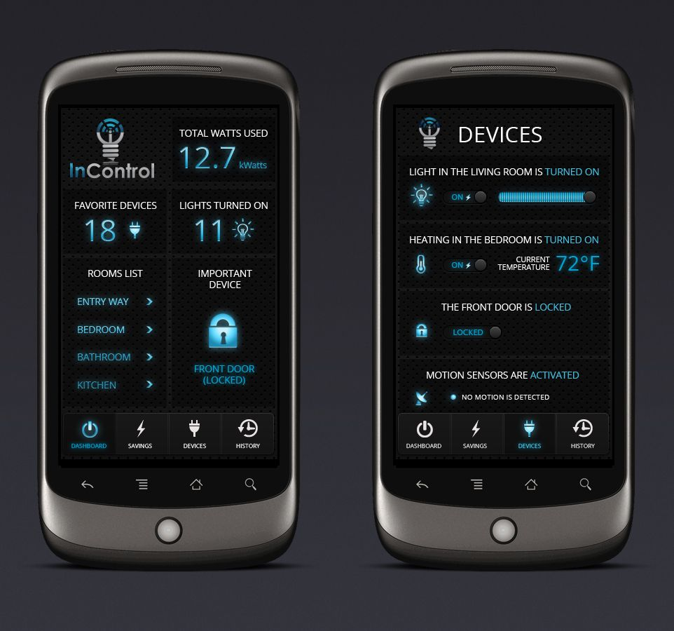 InControl design contest - Design home automation app to control
