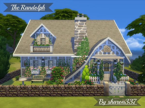 The Randolph house by sharon337 at TSR via Sims 4 Updates