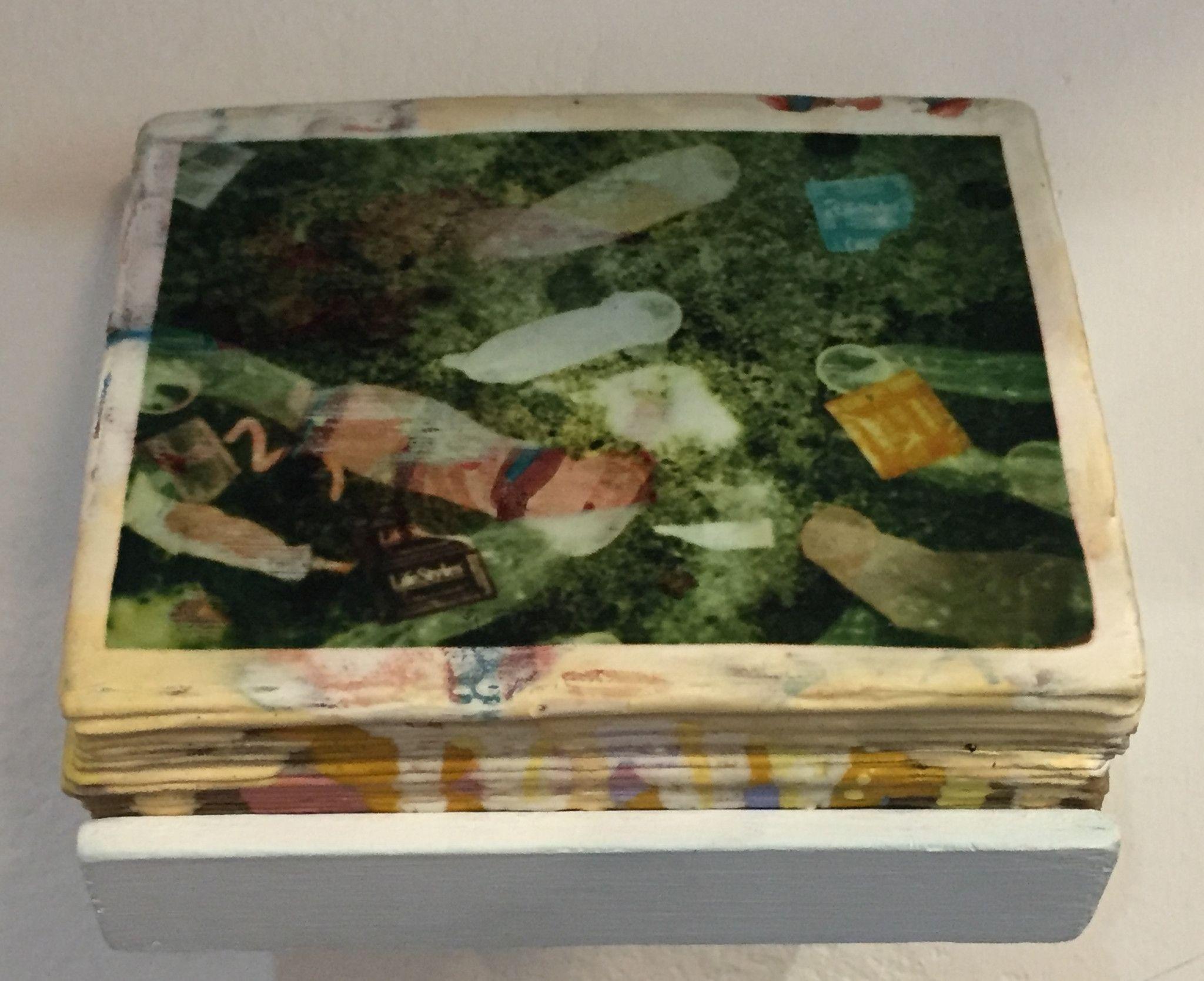 Stacked Polaroid Sculptures