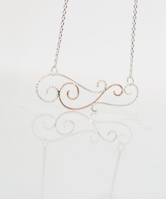 Delicate Elvish Swirly Silver Rose Gold Filled by MirielDesign