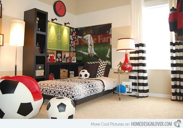 get athletic with 15 sports bedroom ideas | soccer, chair and
