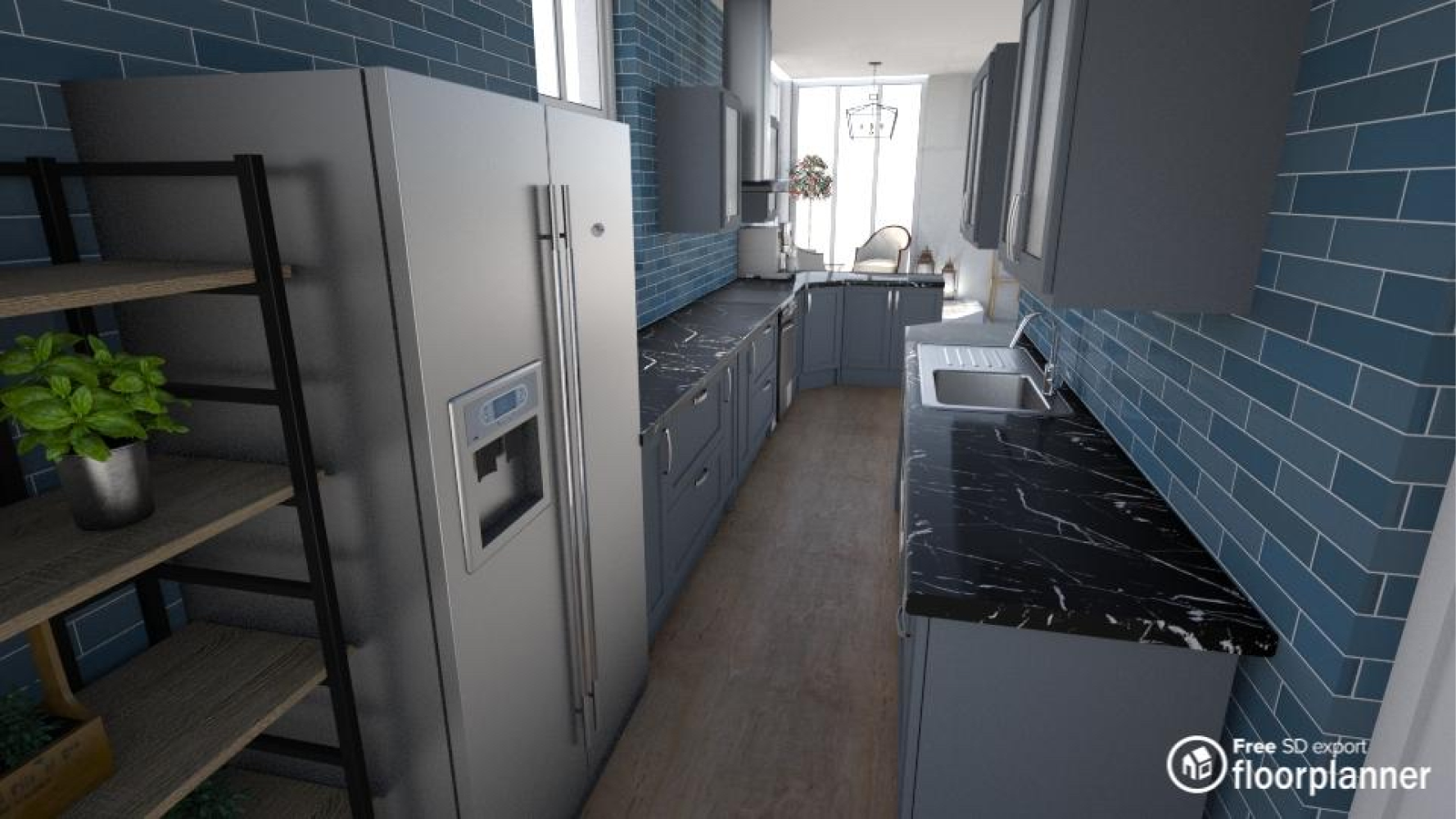 3d Render Of A Kitchen Created With Floorplanner Com In 2020