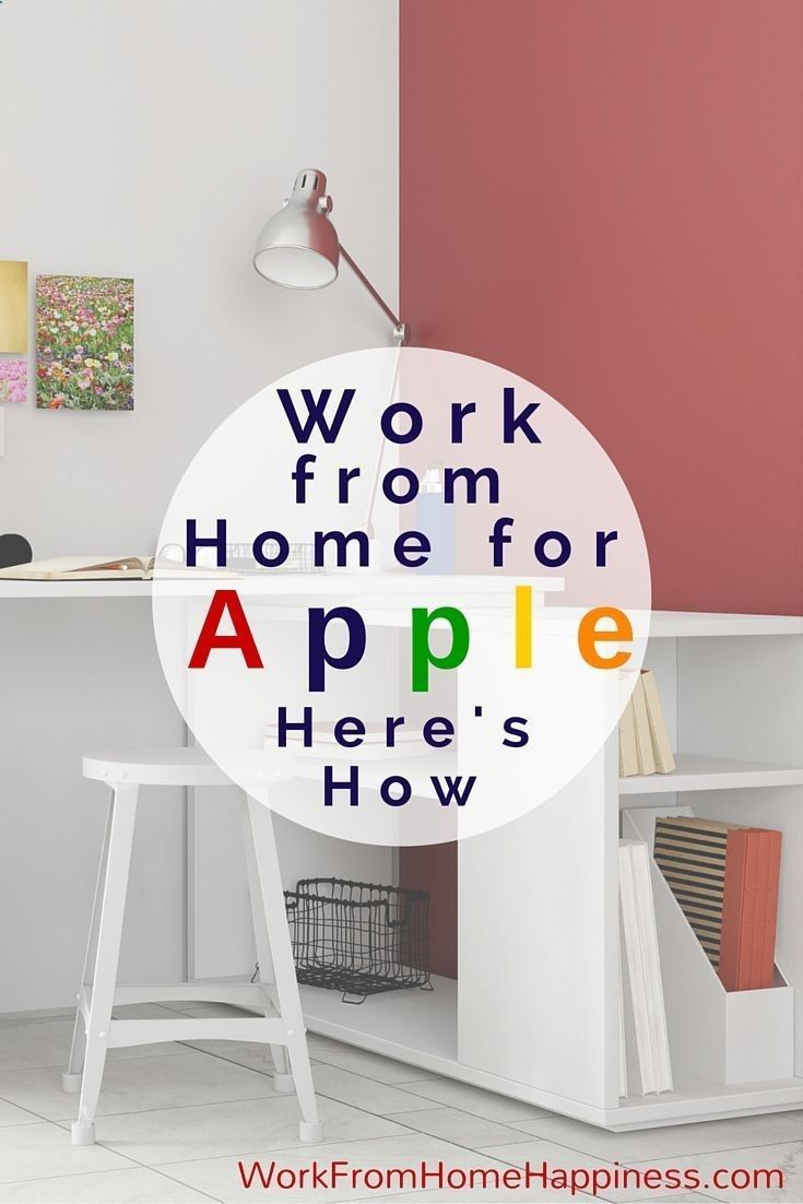 Work from home for Apple and receive competitive pay and