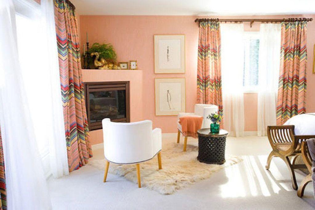 Sala de estar salmon pinterest sala de estar y madera - Color salmon en paredes ...