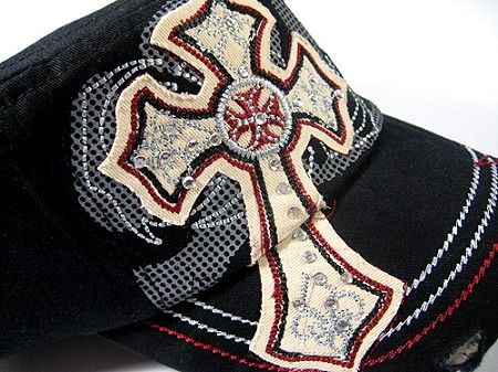 246eac4738bb0 Wholesale Rhinestone Cross Cadet Caps - Bling Cowgirl Western Vintage  Fashion Hats - Everyday Discount at August Caps