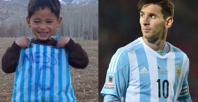 cheap for discount ac09e 327f4 Messi meet with little fan shirt kid | live tv channels ...