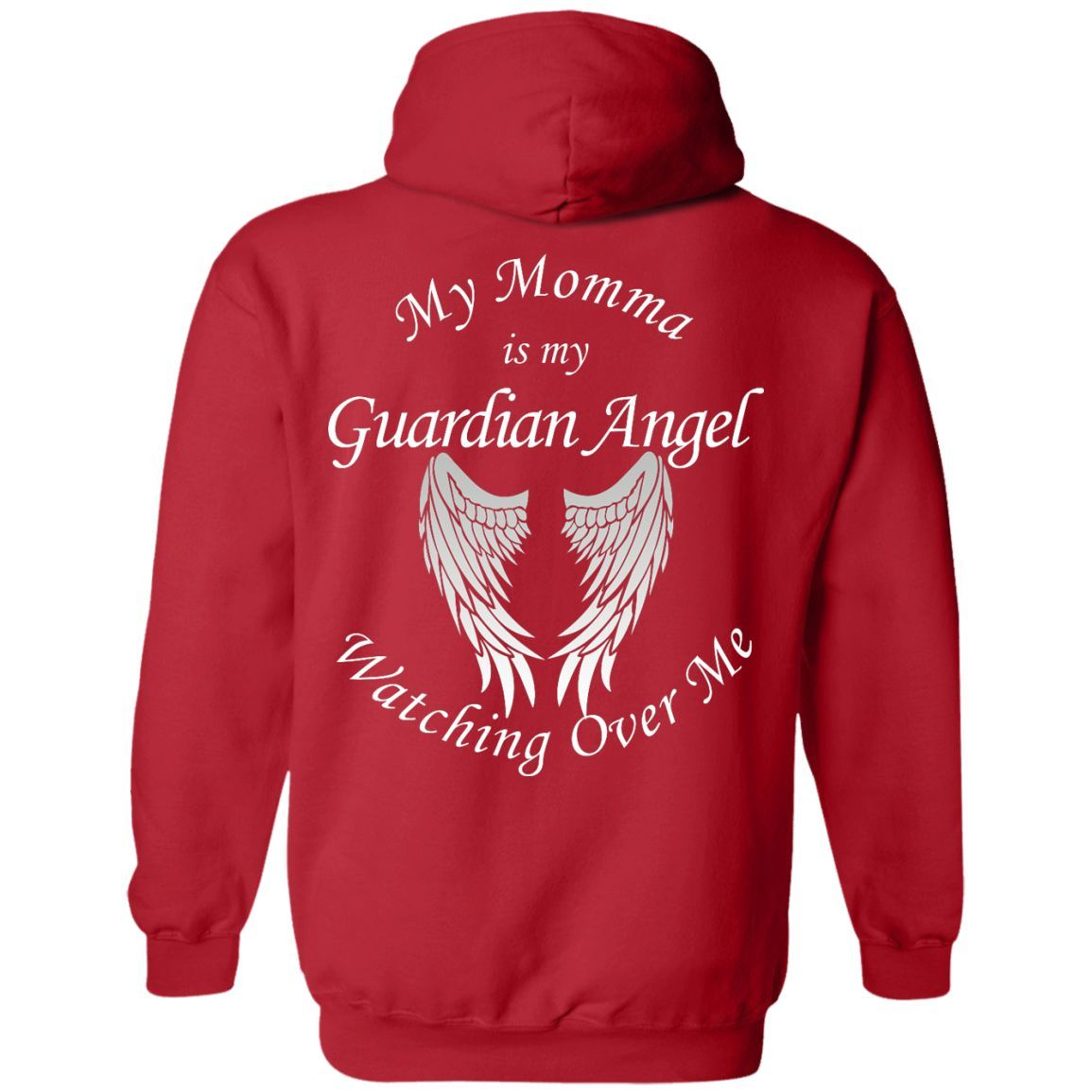 Momma Guardian Angel Pullover Hoodie