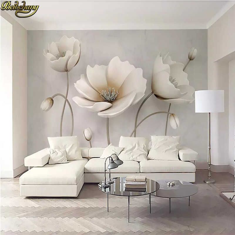 Beibehang Custom 3d Mural Wallpaper Photo Wall Paper 3d Flower Marble Landscape Living Room Modern Decoration Home Flooring Roll Aliexpress In 2020 Living Room Murals Wallpaper Living Room Living Room Modern