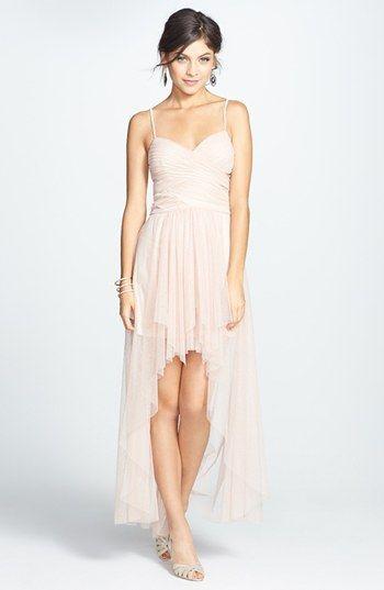 Hailey Logan Glitter High/Low Mesh Gown (Juniors) (Online Only ...