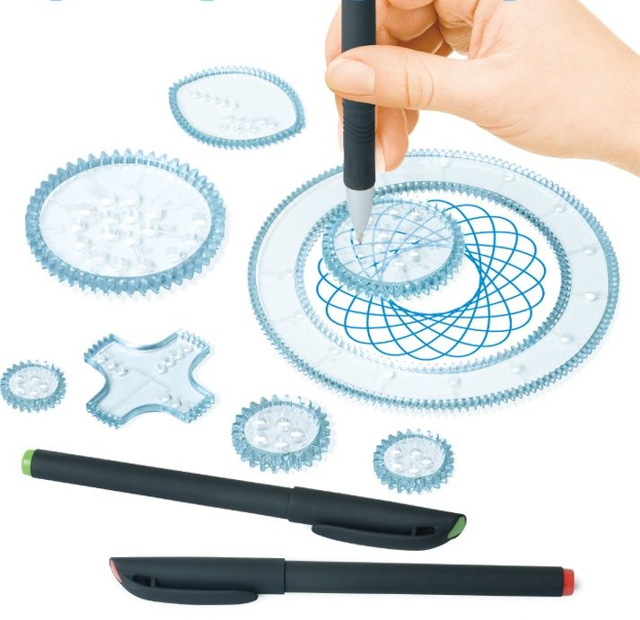 I can imagine you twirling around in a spirograph pattern or lissajous  curve, like a work of art!   Drawing kits, Spirograph, Spirograph art