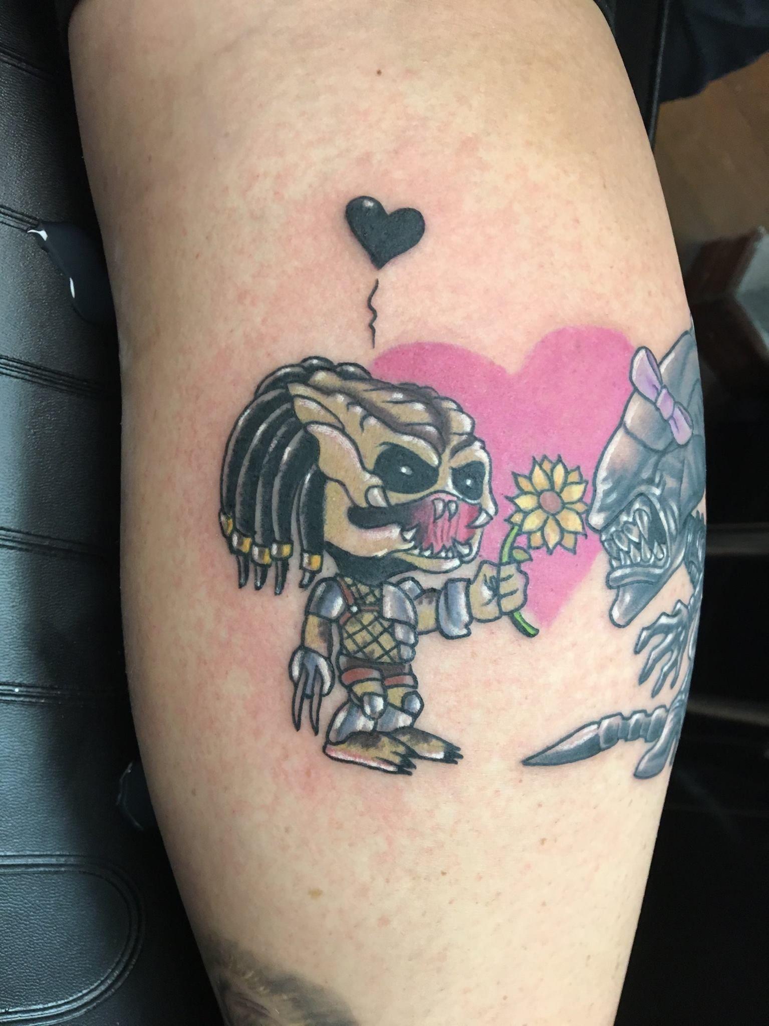 Elf Predator Tattoo Tattoos New School Tattoo