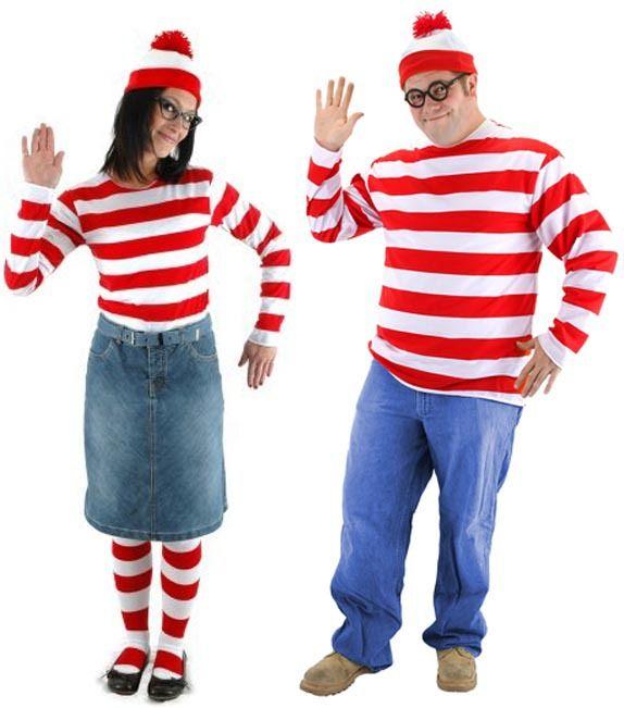 Where/'s Wally Waldo Wenda TV Cartoon Halloween Fancy Dress Party Costume Unisex