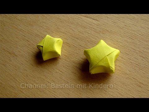 3D Sterne basteln - Bastelideen Weihnachten - Weihnachtssterne falten - DIY Origami Stern