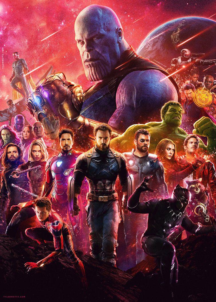 Avengers infinity war movie poster by tylerwetta marvel