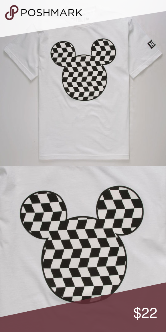 e617ac16913 NEFF Disney Mickey Mouse Vans Checkered T-Shirt Come s New W  Tags Any  Questions