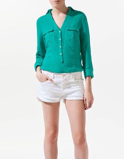 Linen safari shirt shirts woman zara indonesia fashion linen safari shirt shirts woman zara indonesia stopboris Images