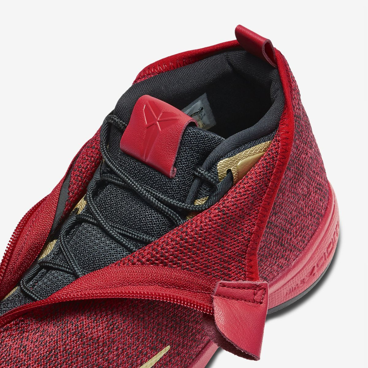 Detailed images and potential release information for the Nike Zoom Kobe  Icon Red / Gold-