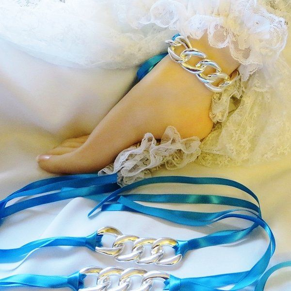 diva slave jewelry ribbon bracelets anklets clit clip and ben wa | Under The Hoode Erotic and Sexy Intimate Jewelry and Gifts