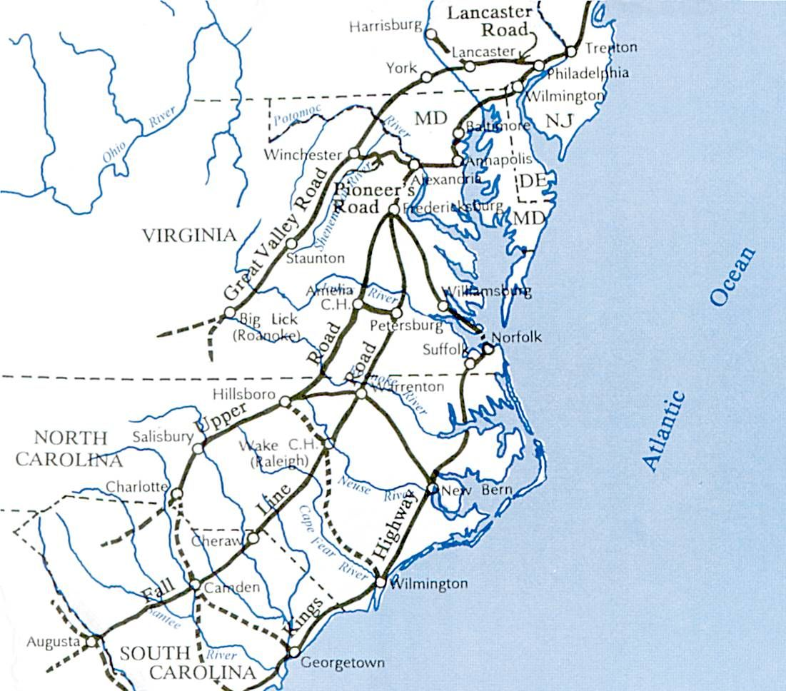 Routes The Scotch Irish May Have Taken South From Pennsylvania