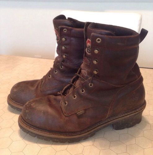 Red Wing Shoes Irish Setter Logger Work Boots Brown Men's Size 13 ...