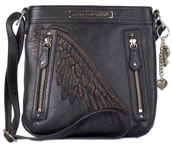 4d7a1b9f6c34 Harley-Davidson Women s Leather Punk Crossbody Bag.