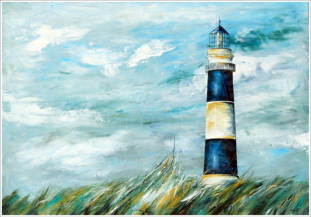 Antje hettner bild original kunst gem lde leinwand malerei xl abstrakt meer neu ocean sea - Leinwand malerei ...