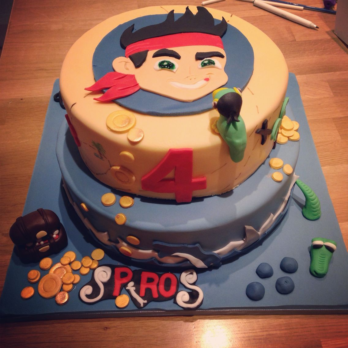 Jake the pirate cake for boys