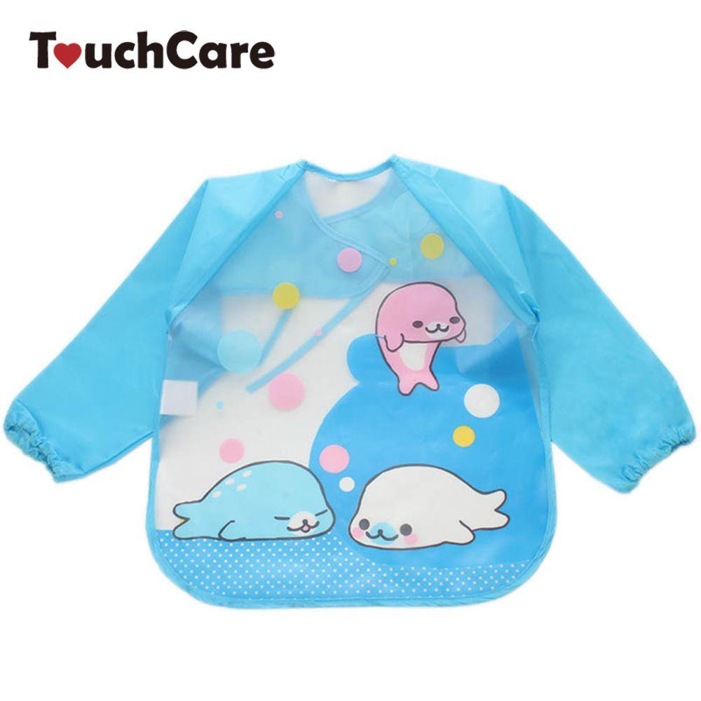 4pcs Cotton Baby Toddler Bib Animal Hippo Print Infant Burp Feeding Bibs Kit CB