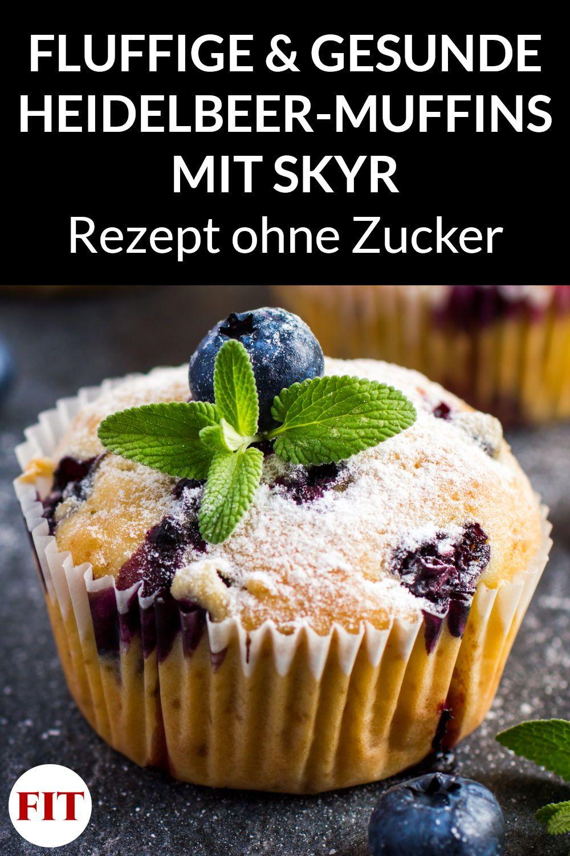 Heidelbeer-Muffins mit Skyr - Gesundes Muffins-Rezept