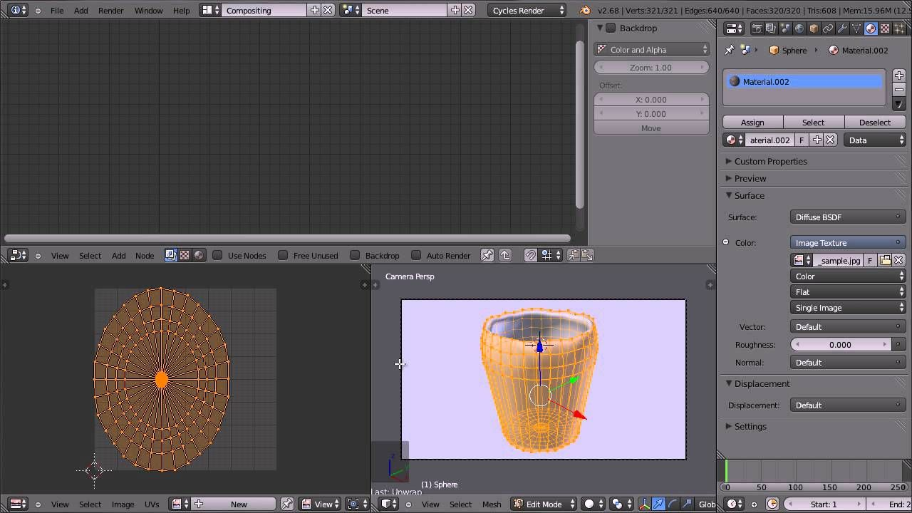 Blender tutorial for beginners cup with wood texture limes blender tutorial for beginners cup with wood texture baditri Image collections
