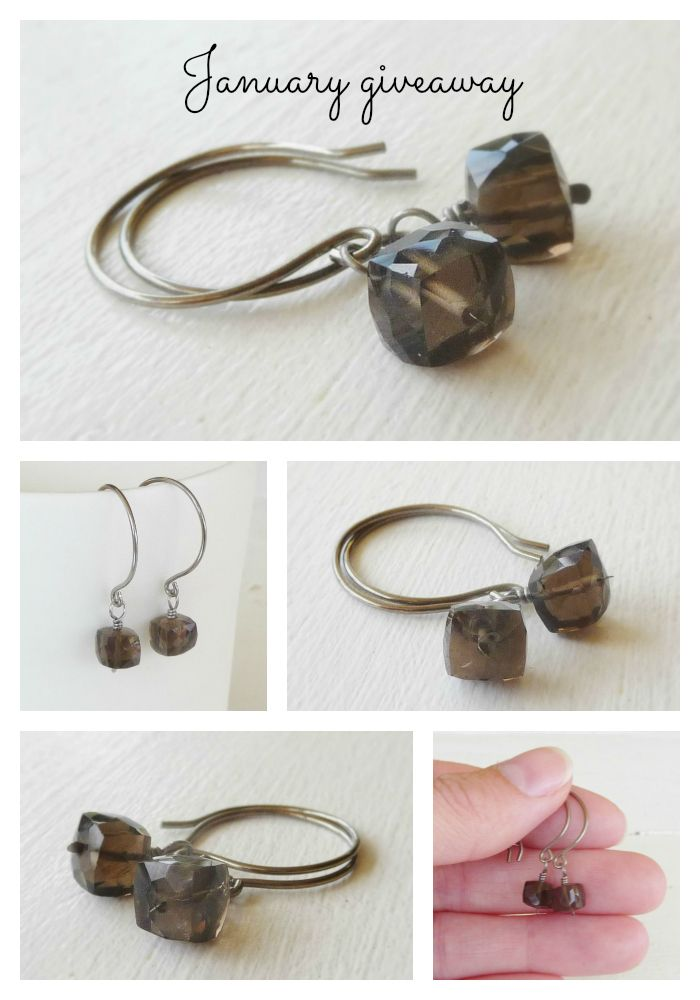 Have you signed up for the Nonita Newsletter? This months giveaway will be the Smokey Quartz Faceted Cube Gemstone Earrings. Be in it to win it and sign up here: www.eepurl.com/C5DAP