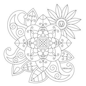 Lilt Kids Free Simple Mandala Adult Coloring Book Image