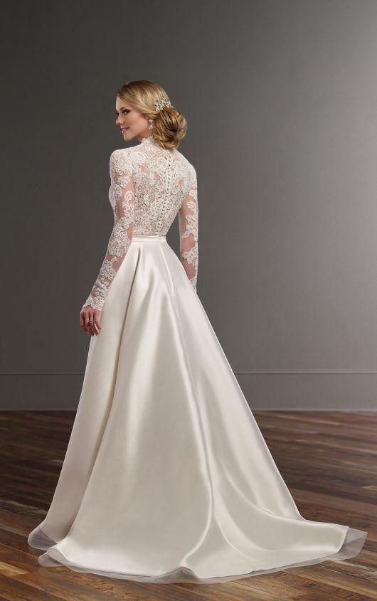 Illusion Lace High Low Skirt Wedding Separates Martina