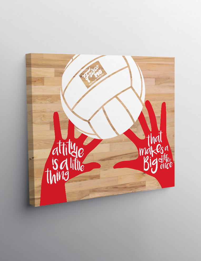 Attitude Canvas Original Red Coaching Volleyball
