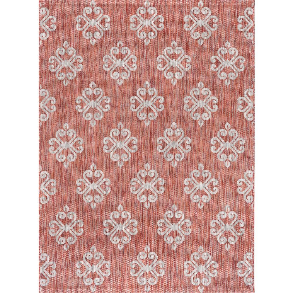 Tayse Rugs Veranda Terra 8 Ft X 10 Ft Indoor Outdoor Area Rug Vnd1520 8x10 Transitional Area Rugs Outdoor Rugs Geometric Rug