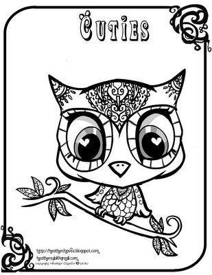 Girl Owl Coloring Pages - Coloring Home   400x309