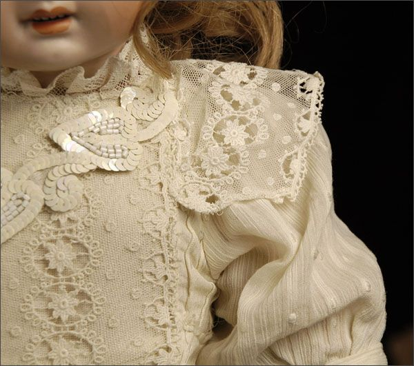 antique doll #lace clothing