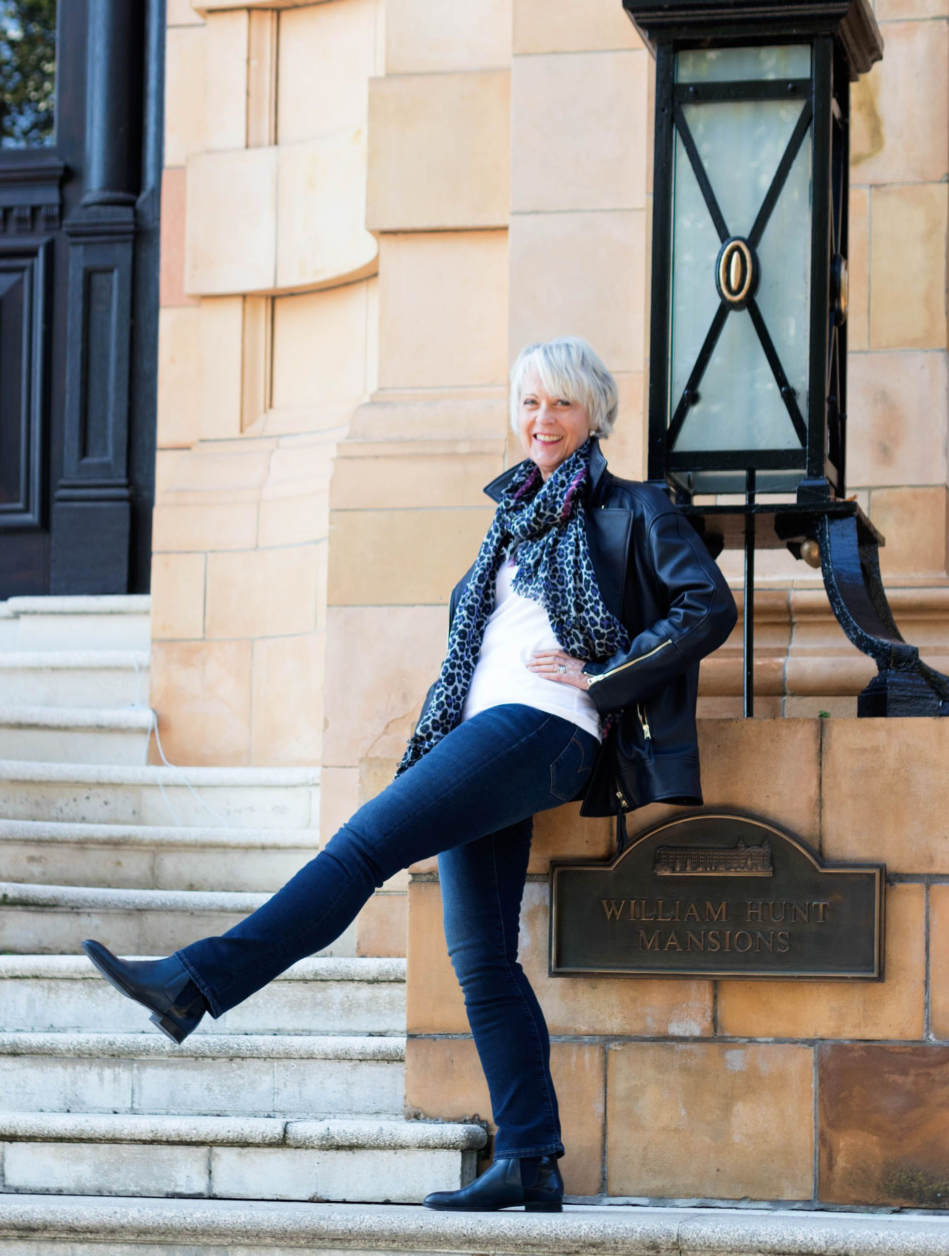 d9bc0d1b96bf Fashion and style advice for women over 50 Wearing a leather biker jacket at  any age