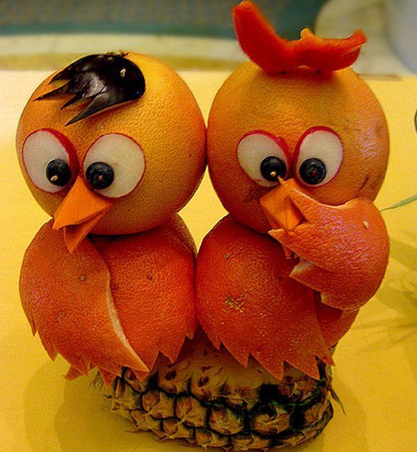 Outstanding fruit carvings a frutas decoradas y
