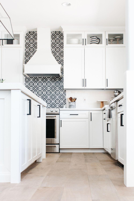 Our House Remodel Flooring Reveal The Tomkat Studio Blog Kitchen Backsplash Trends Kitchen Trends Black And White Backsplash
