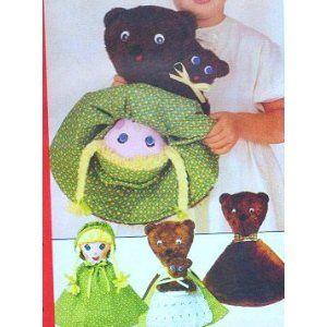 Reversible Doll Pattern, Goldilocks and 3 Bears