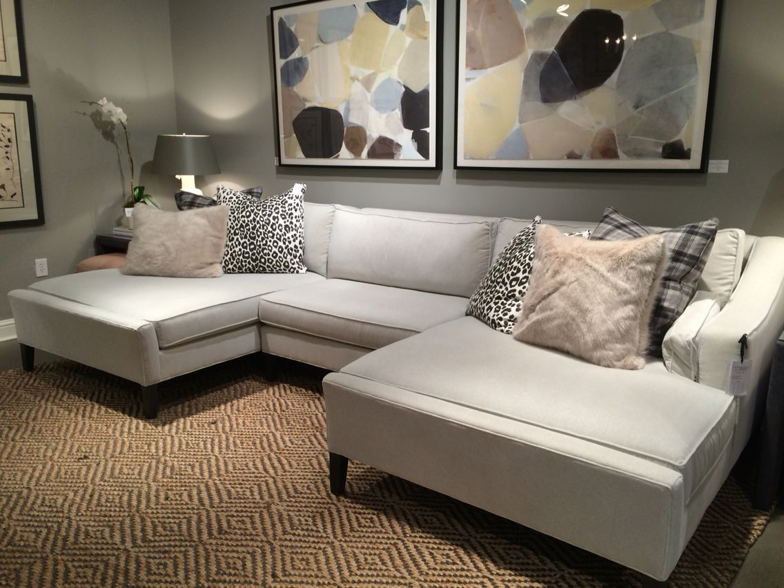 Double chaise sectional by Tobi Fairly CR Laine HPMKT 2015
