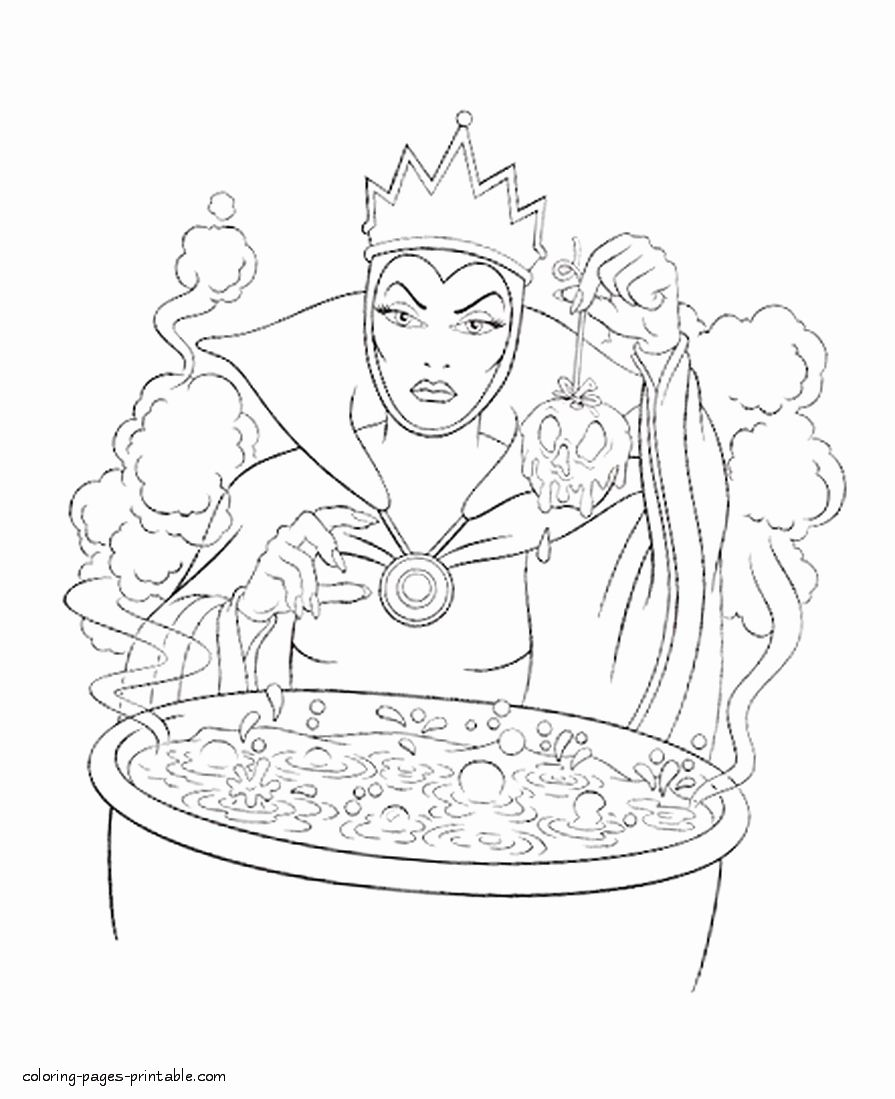 Disney Villains Coloring Book New Evil Queen From Snow White Of Disney Coloring Pages Coloring Pages Coloring Books Disney Coloring Pages