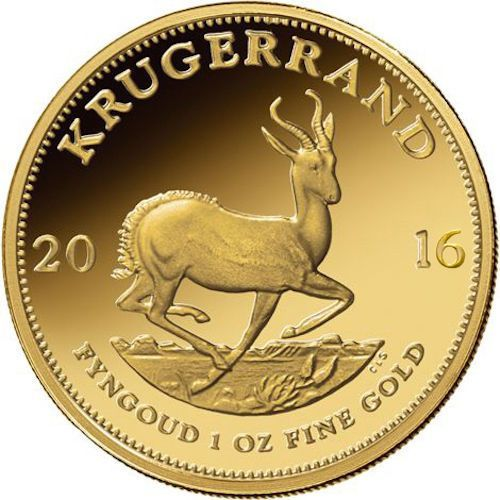 1 Oz South African Gold Krugerrand Coin (Varied Year, BU