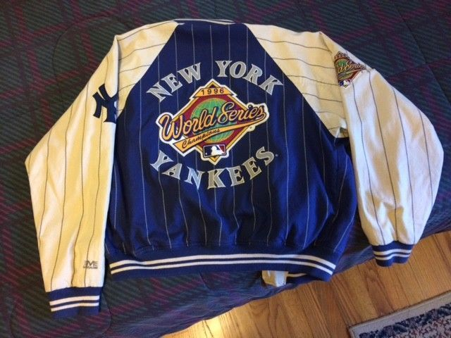 Vintage Yankees Jacket Reversible 1996 World Series Champions Patch