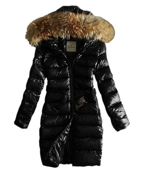 Promotions Moncler Down Coat Womens Hooded Windproof Black