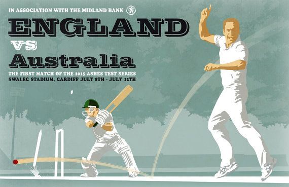 Large Cricket Ball Bat Ashes England Oval Sport Wall Poster Art Picture Print