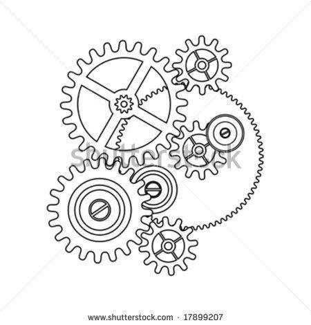 Gear Template Google Search Gear Tattoo Gear Drawing Steampunk Tattoo
